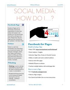 Social Media 101 #N4C EJR